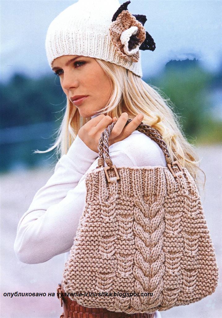 Связать женскую шапку и шарф