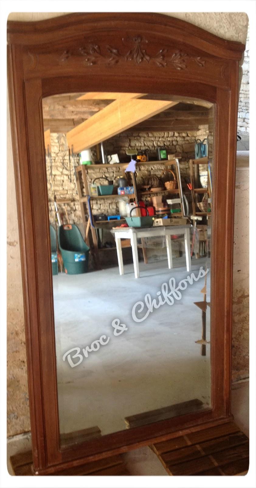 Broc et chiffons relooking de meubles dans les deux s vres 79 patine l 39 ancienne miroir for Peinture relooking v