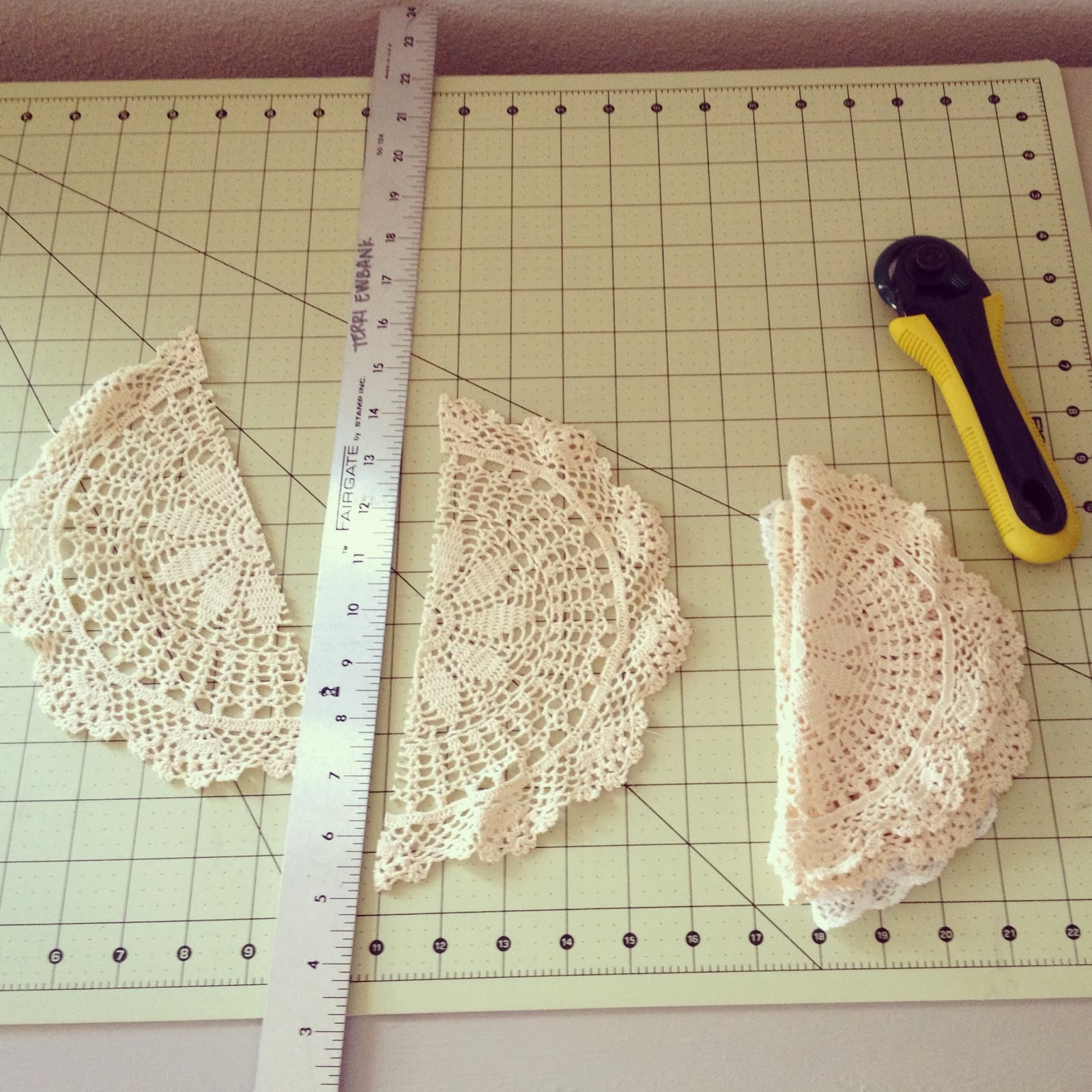 doilies cut in half