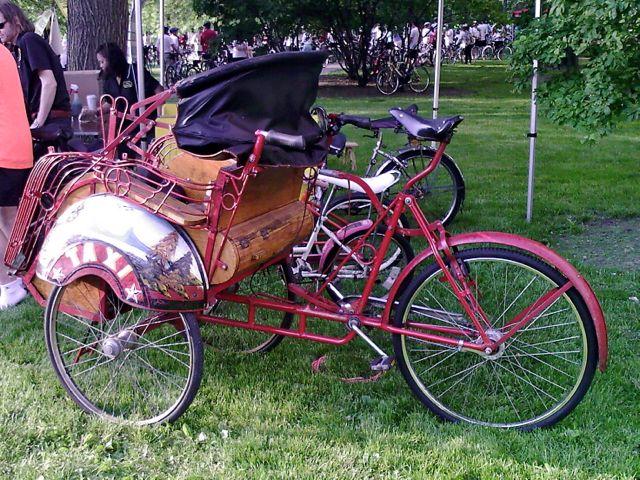 Bike Cheap Vs Expensive A bike taxi rickshaw becak