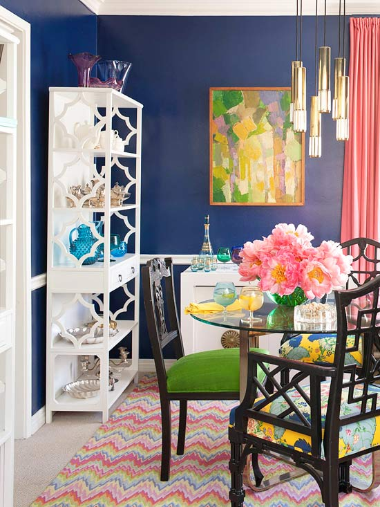 mix and chic: bright and colorful dining room ideas!