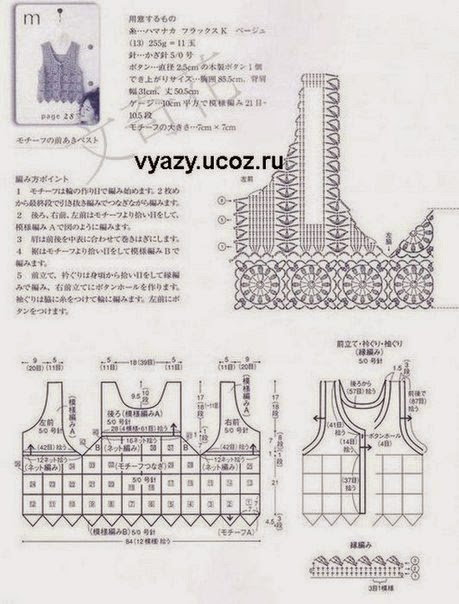 crochet patterns to try  free crochet charts and explanation for vintage timeless vest