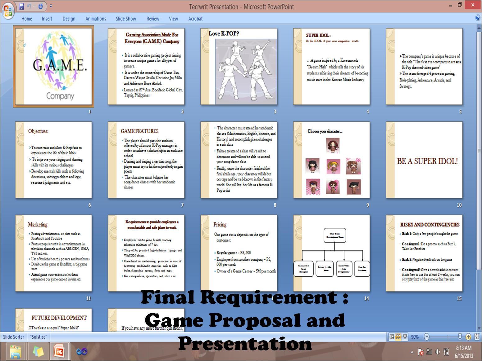 Game Design what subjects are given in college