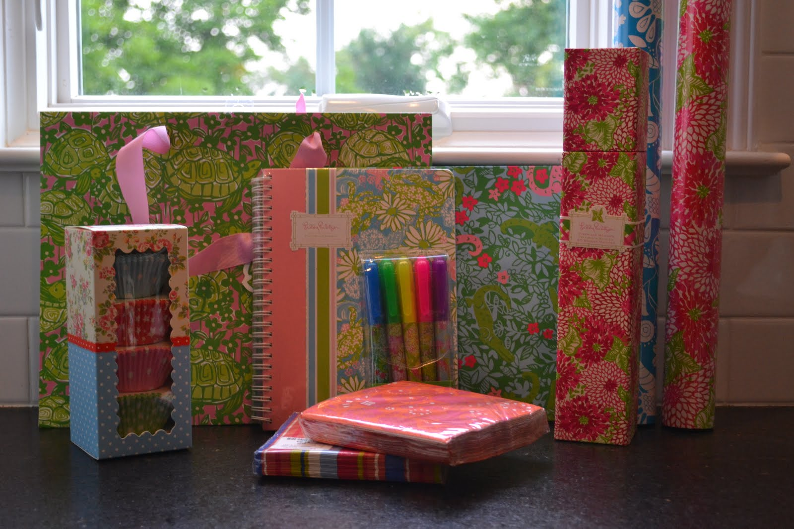 I settled on a few rolls of wrapping paper and gift bags  a hostess gift   some adorable cupcake liners and a birthday gift to have on hand when one  of my. House of Marlowe  Great Finds at TJ Maxx and Homegoods