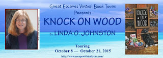 http://www.escapewithdollycas.com/great-escapes-virtual-book-tours/books-currently-on-tour/knock-on-wood-by-linda-o-johnston/