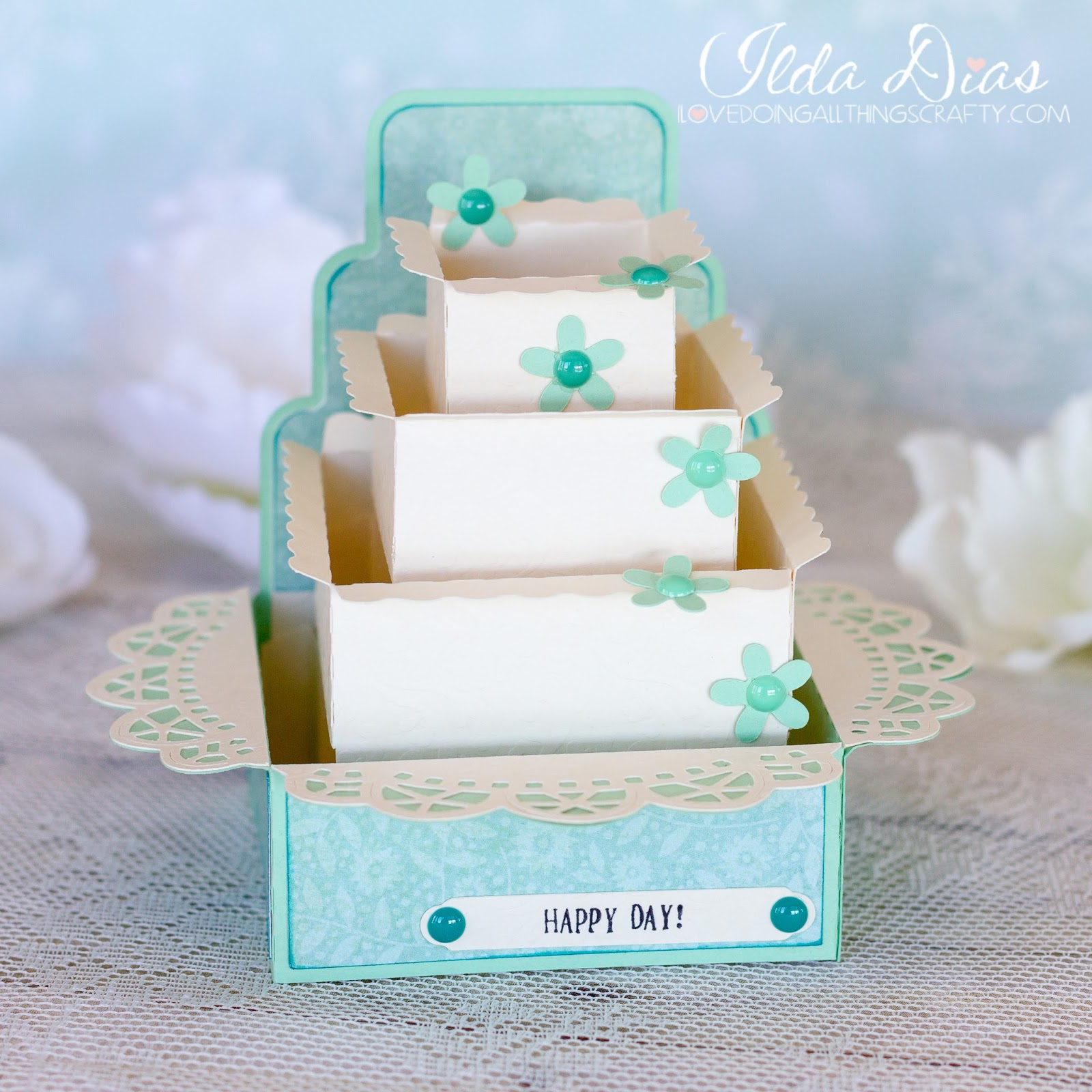 I Love Doing All Things Crafty: Wedding Cake Box Cards