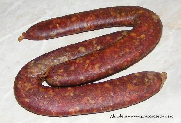 ghiudem turcesc si tataresc preparat acasa din carne de vita si porc retete culinare de mancare,