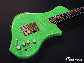 guitarra verde