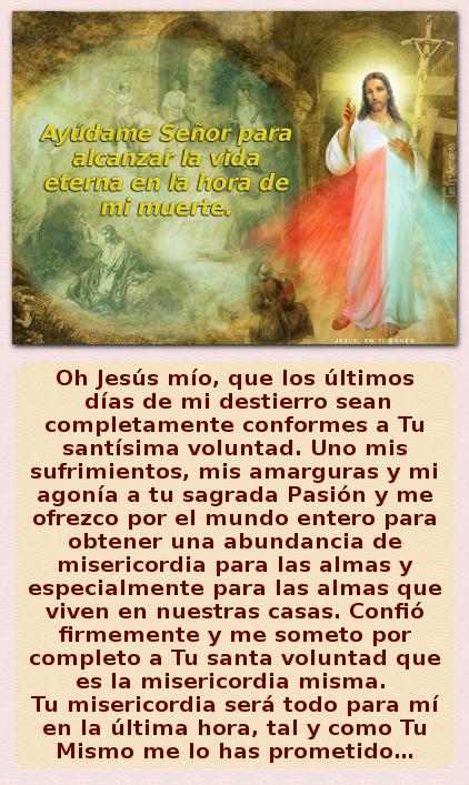 oracion a la divina misericordia para la ultima hora