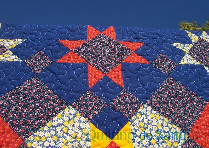 "Quilt ""Estrellas del Sur"" detalle"