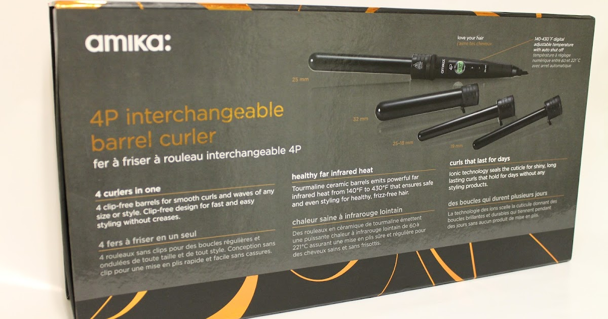 The Gloss Guide Amika 4p Interchangeable Barrel Curler Set