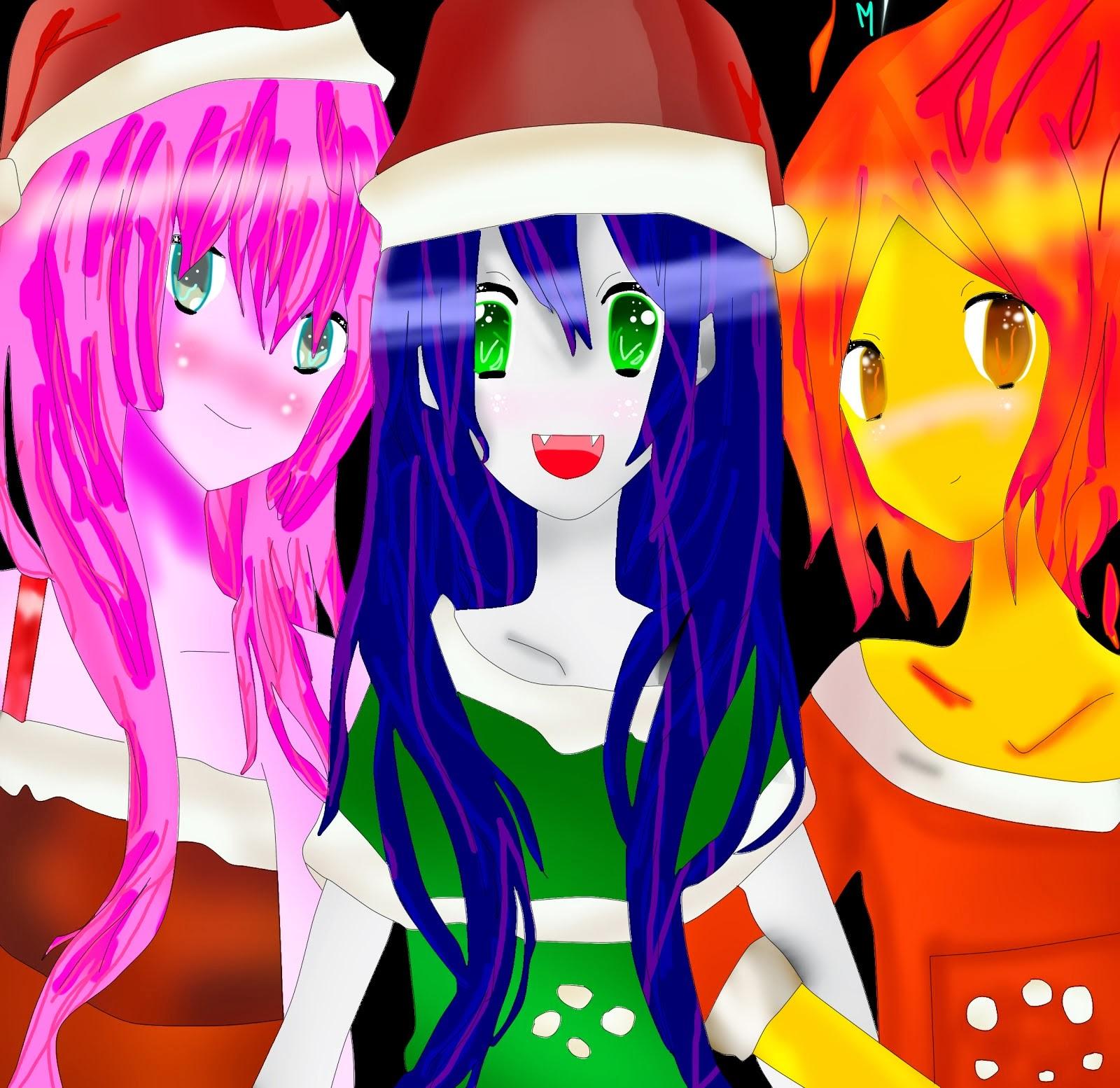 Las 3 lindas amigas y la Navidad...