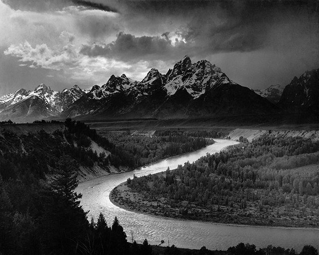 Ansel adams the tetons and the snake river 1942