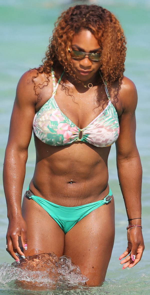 Apologise, but Serena williams bikini realize, what