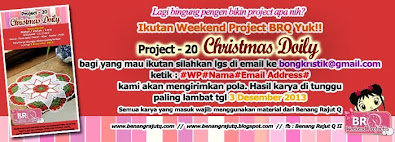 WEKKEND PROJECT BENANG RAJUT Q  - PROJECT 20 - Christmas Doily