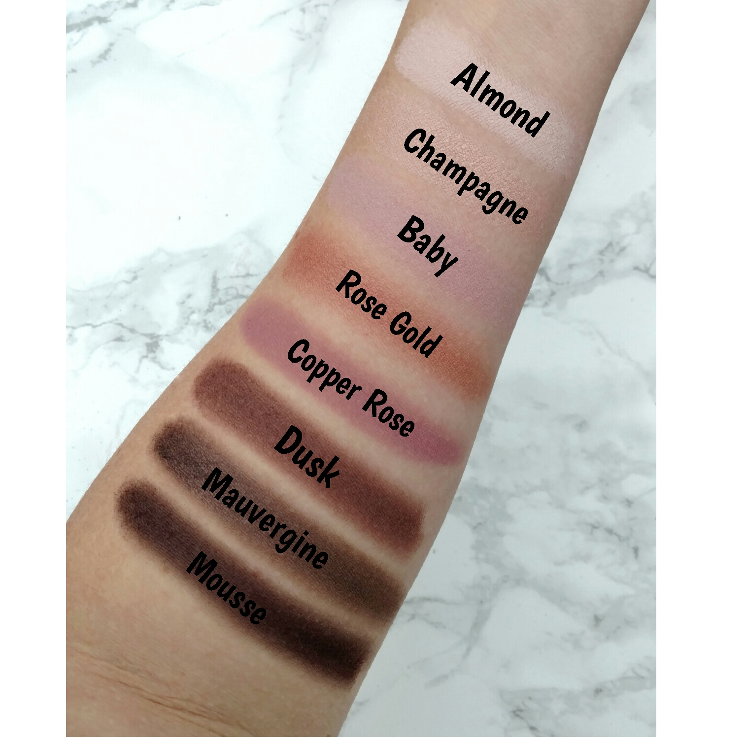 Covergirl TruNaked Roses Palette swatches