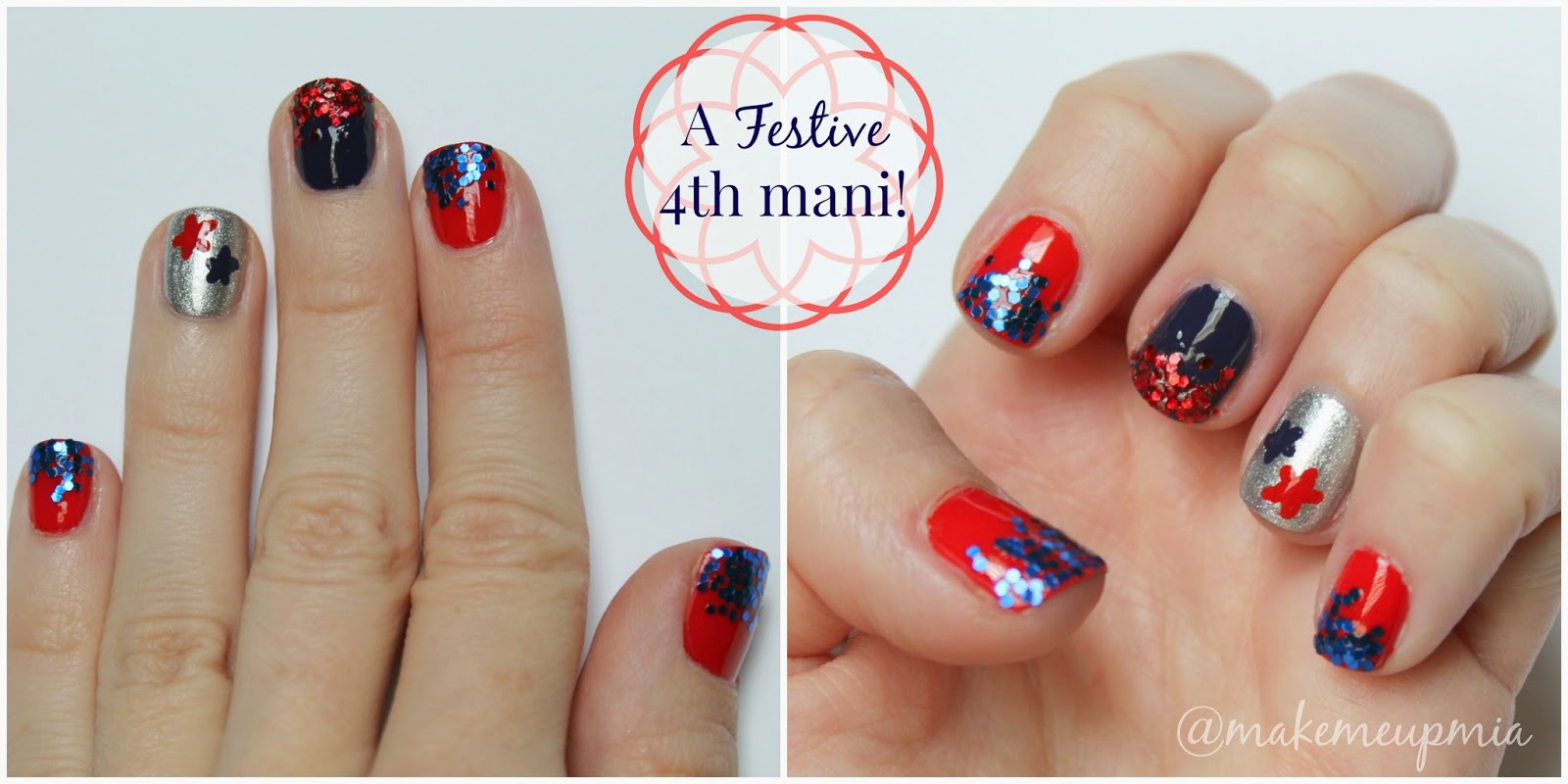 4th of July manicure