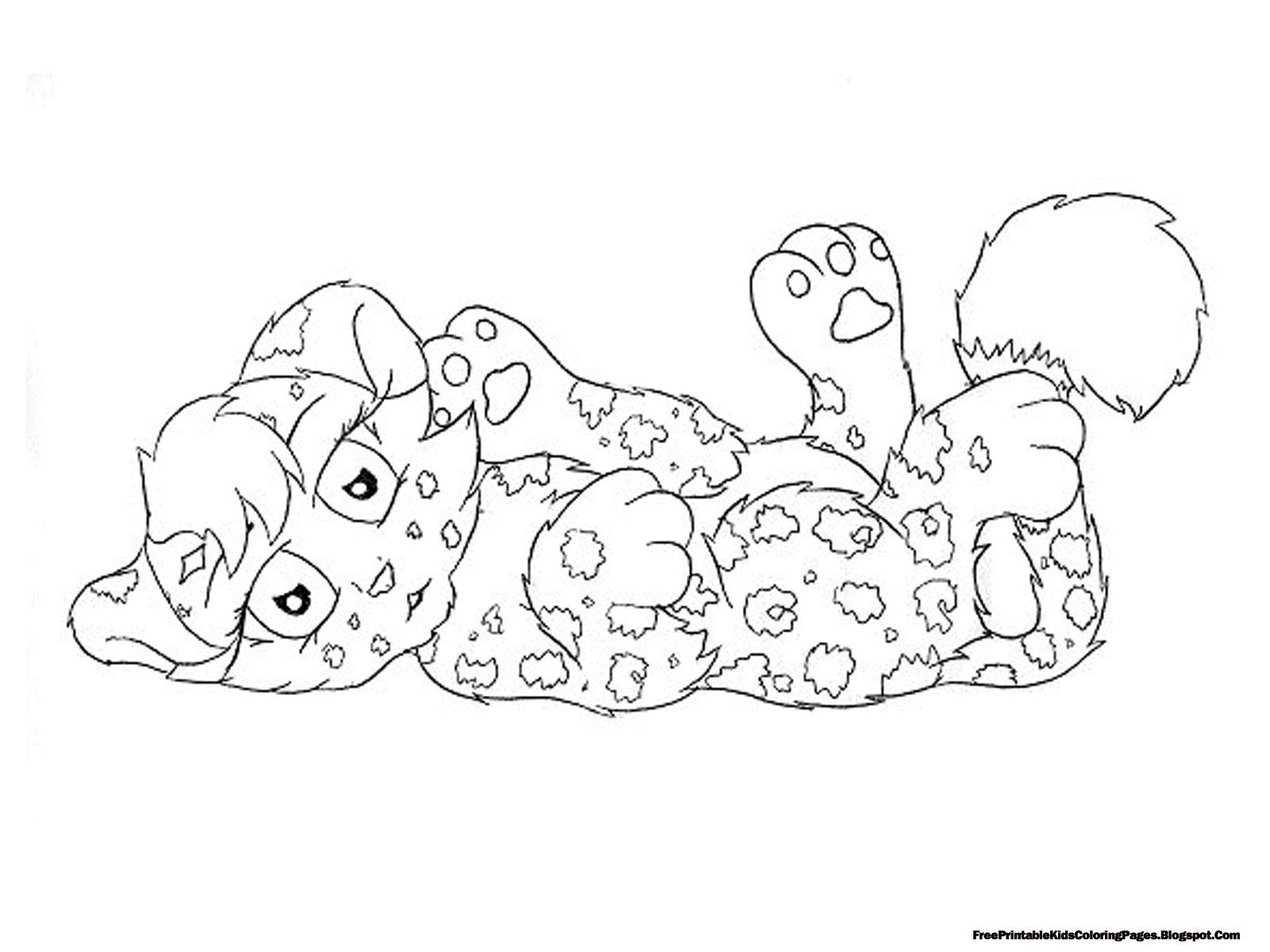 Coloring pages jaguar - Jaguar Coloring Pages For Kids Free Printable