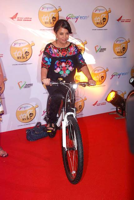 Sushmita Sen & Mary Kom grace the Godrej Eon's 'Tour De India' cycling event