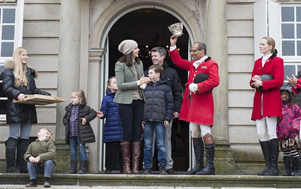 Crown Prince Family Of Denmark Attended Hubertus Hunt