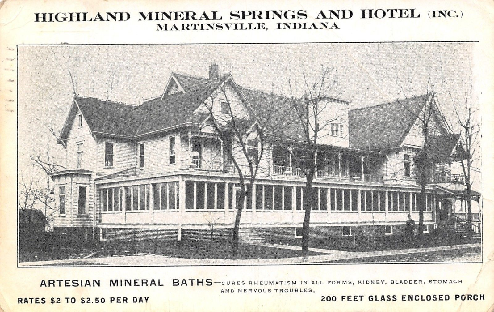 Highland Mineral Springs And Hotel In Martinsville Indiana