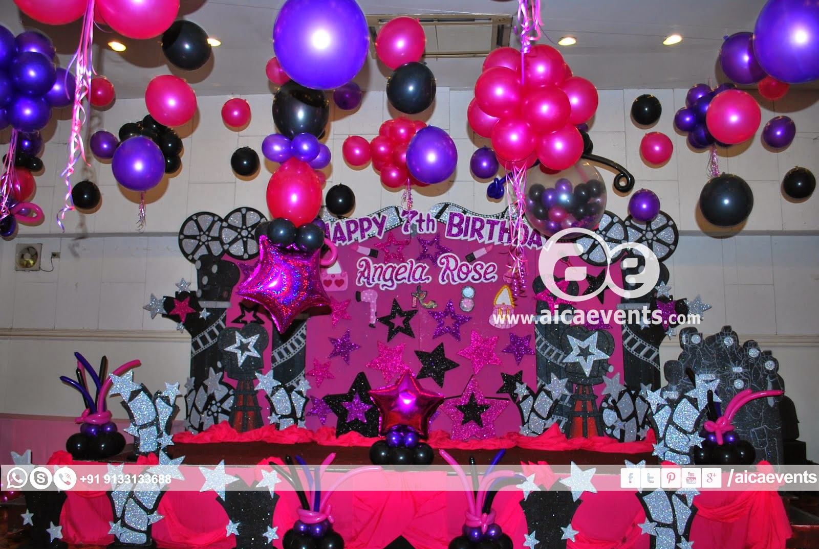 Aicaevents India Stars Theme Birthday Party Decorations