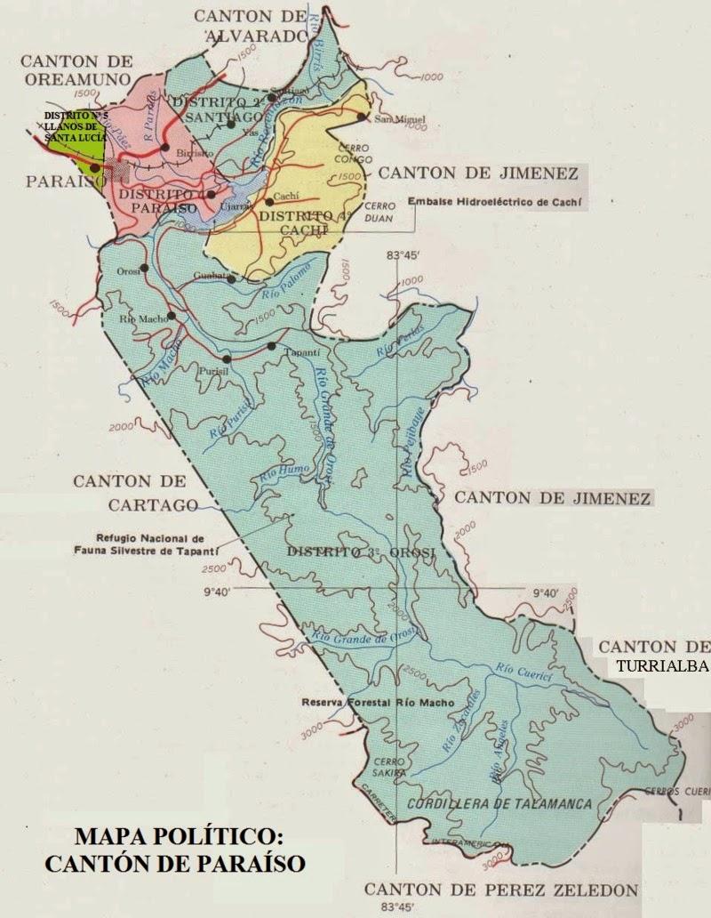 Cartago Provincia N 3 de Costa Rica  MAPAS DE