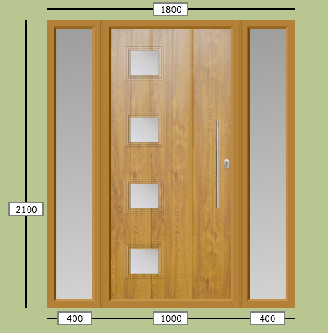 Build my bungalow front door composite or natural wood for Natural wood front door