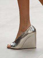 Метални обувки на платформа без пръсти Burberry Prorsum