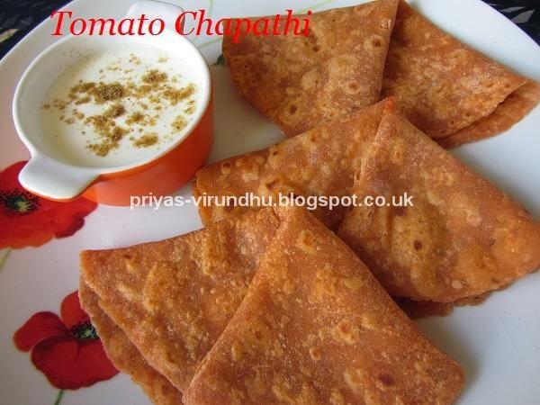 tomato chapathi/thakkali chapathi[spicy & tangy]