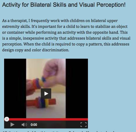 http://drzachryspedsottips.blogspot.com/2014/06/activity-for-bilateral-skills-and.html