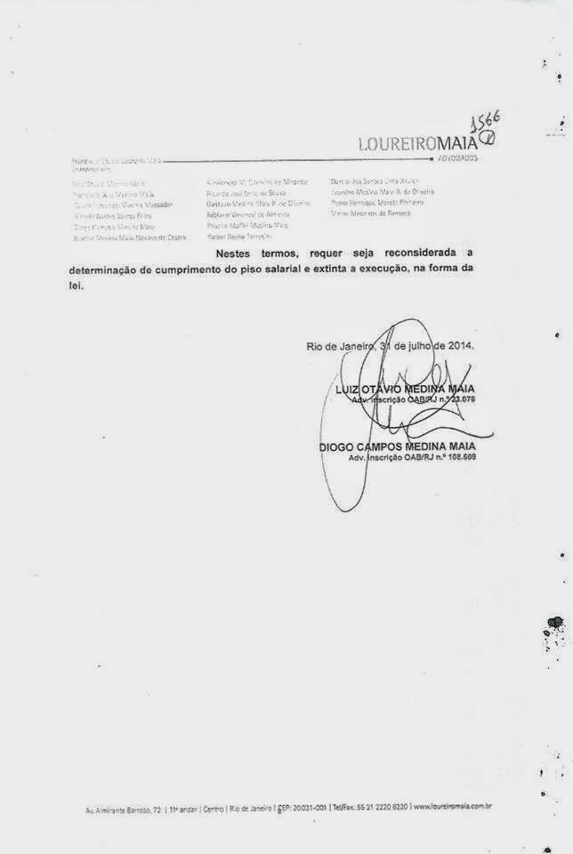 Advogado do Escritório Loureiro Maia faz pedido para anular a Intimação, acima.