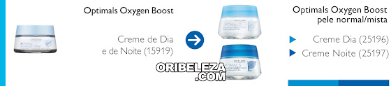 Correspondência Optimals Oxygen Boost para a Pele Normal/Mista