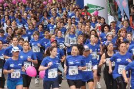 Női futás a mellrák ellen
