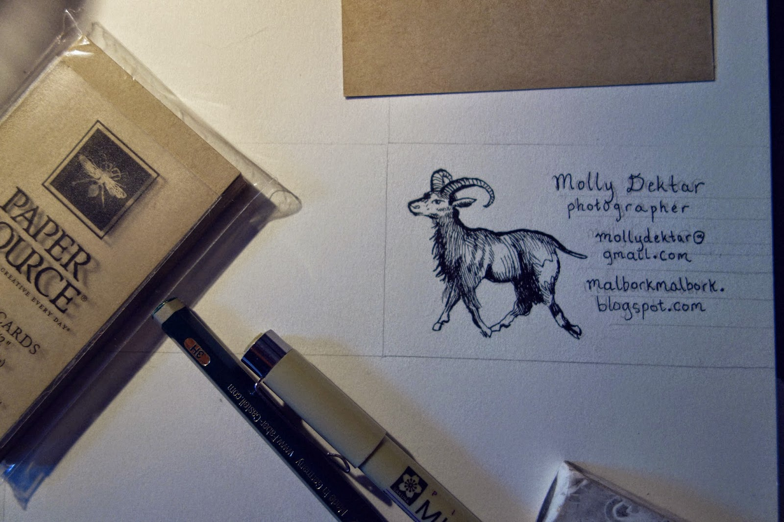 Diy rubber stamp business card on rubberstamps i just used a pencil and pen and drew a goat inspired by one in the pictorial websters rubberstamps also lets you format in some text online colourmoves