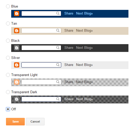 NavBar Blogger Widget Settings