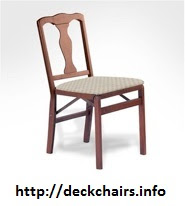 Queen Anne Stakmore Wood Folding Chairs