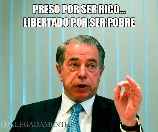 Imagem de Ricardo Salgado - Preso por ser rico... Libertado por ser pobre.