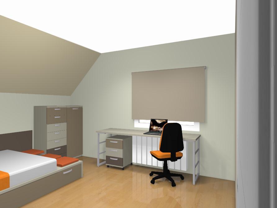 Amueblar dormitorio juvenil abuhardillado - Habitaciones juveniles femeninas ...