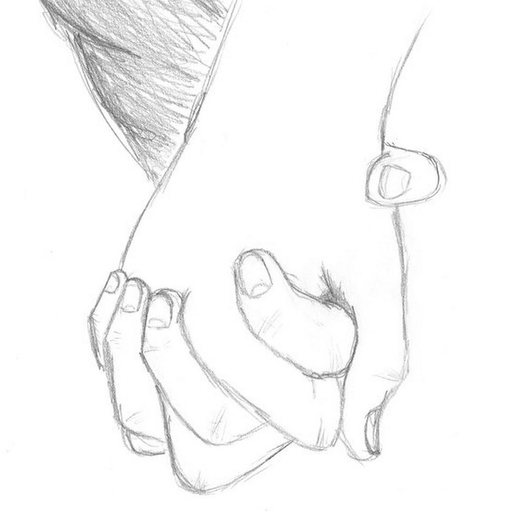 Anime Chibi Couple Holding Hands