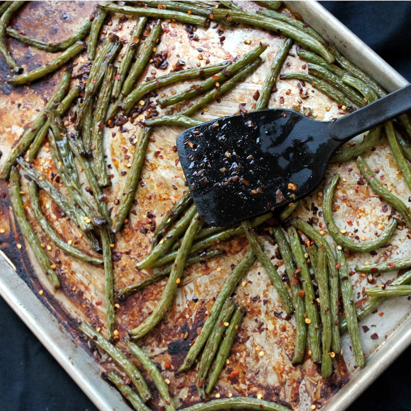 The Stay At Home Chef: Spicy Roasted Green Beans