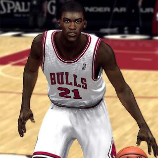 NBA 2K13 Mods Jimmy Butler Cyber Face Update