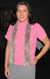 Knifty Knitter Fun Fur Scarf