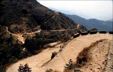 GTA chief executive Bimal Gurung laid foundation stone for Maneybhanjyang Sandakphu Phalut road