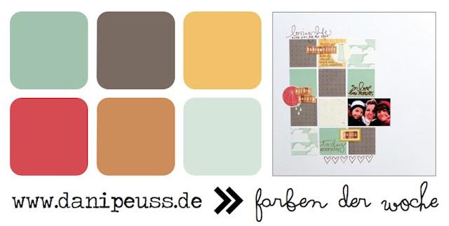 Farben der Woche | Layout von Nina
