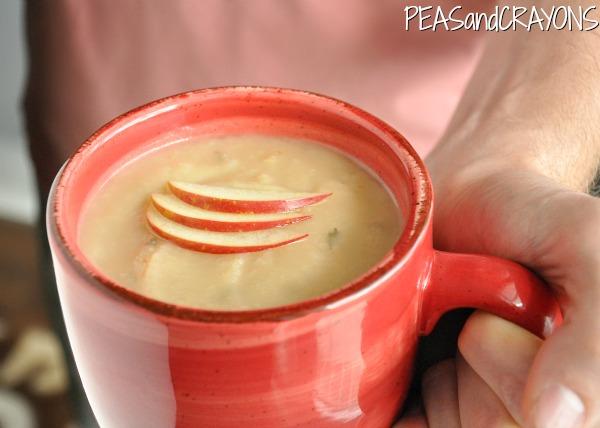 Creamy Potato Apple Brie Soup... in the #crockpot!