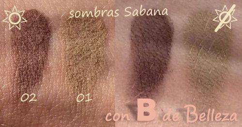 Swatches sombras Sabana