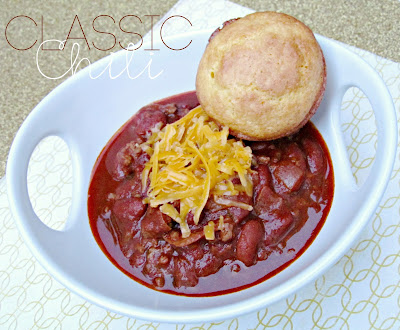 Classic Chili recipe for Fall from It's Always Ruetten