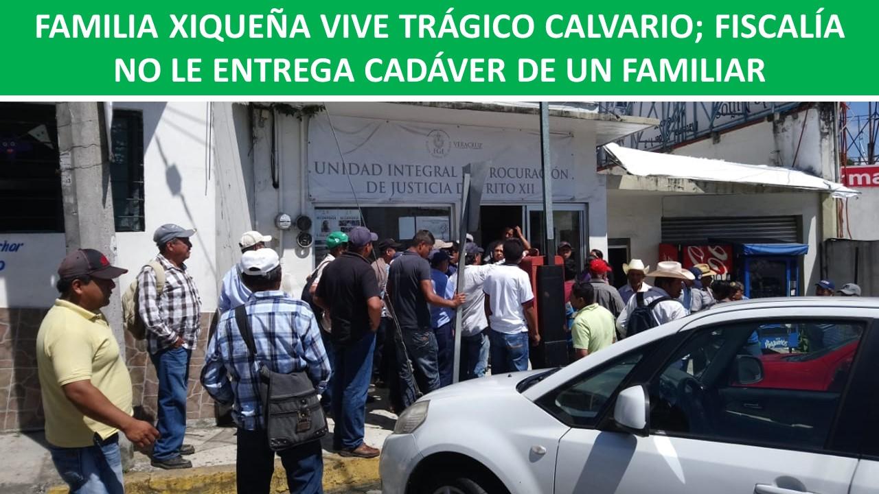 FISCALÍA NO LE ENTREGA CADÁVER DE UN FAMILIAR