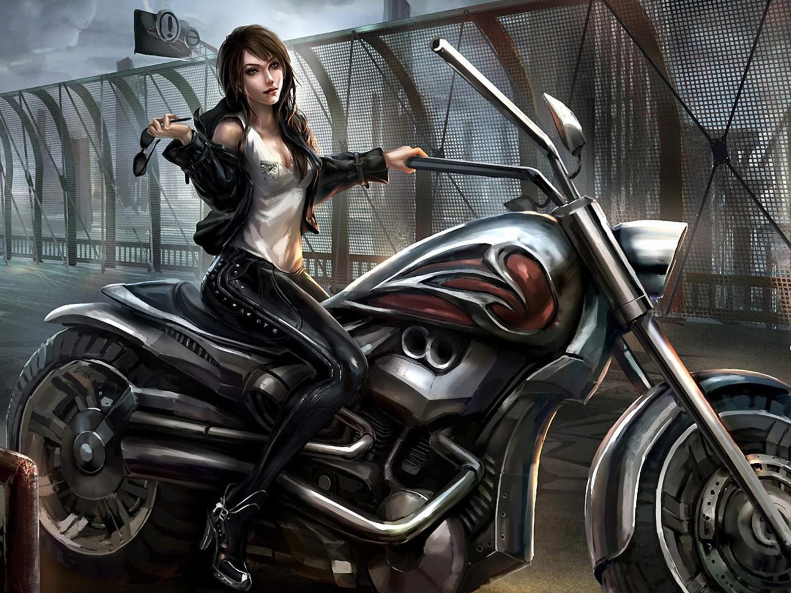 Fotos de mujer montada en moto para facebook